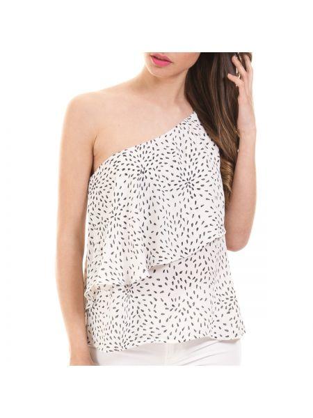 Блузка с коротким рукавом из вискозы короткая Vila