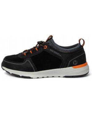 Спортивные кожаные черные ботинки на шнуровке Merrell