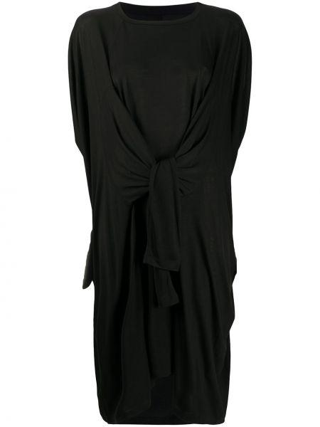 Платье миди с драпировкой черное Henrik Vibskov