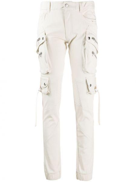 Белые джинсы-скинни с карманами с пайетками на пуговицах Faith Connexion