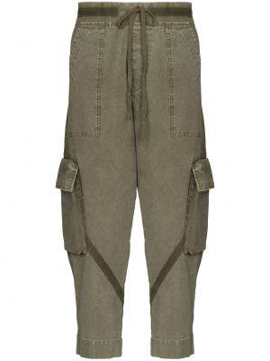 Зеленые укороченные брюки Greg Lauren