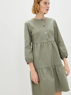 Платье осеннее хаки Raya