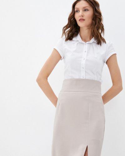 Белая блузка с короткими рукавами Blauz
