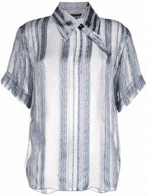 Синяя блузка с нашивками Giorgio Armani