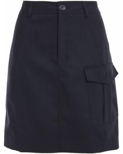Шерстяная черная юбка мини с карманами Mcq Alexander Mcqueen