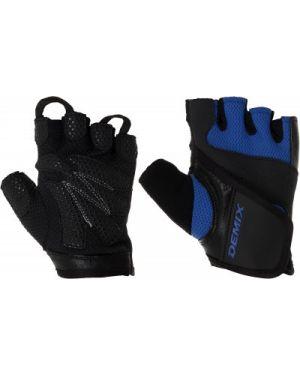 Перчатки для фитнеса нейлоновые кожаные Demix