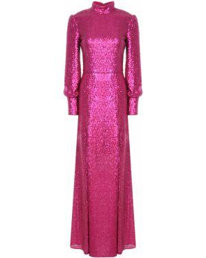 Шелковое платье макси - розовое A La Russe