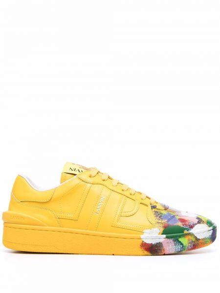 Żółte sneakersy skorzane Gallery Dept.