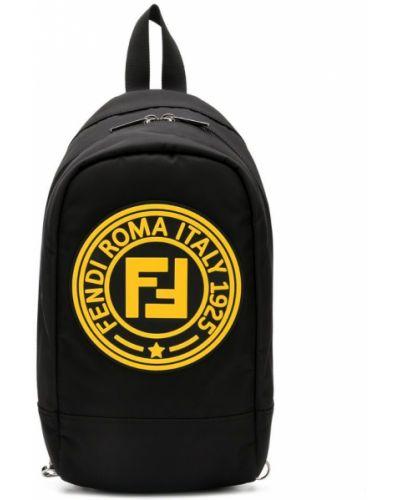 Рюкзак черный Fendi Kids