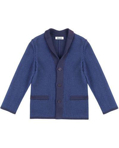 Пиджак шерстяной синий Jacote