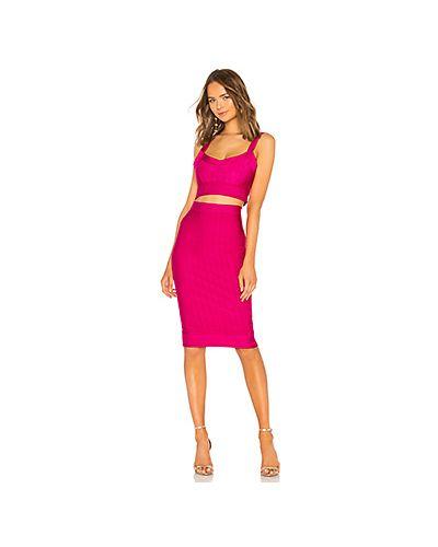 Облегающее платье розовое в рубчик By The Way.