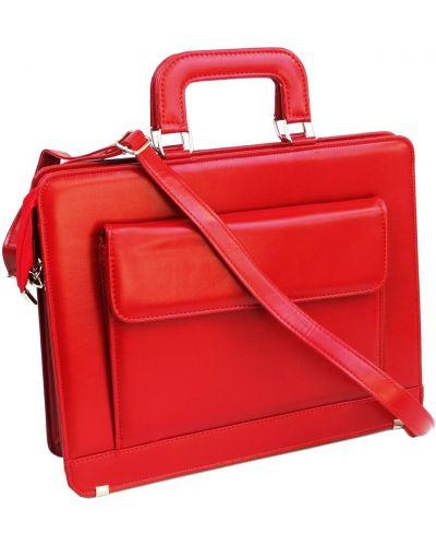 Кожаный портфель - красный Rozetka