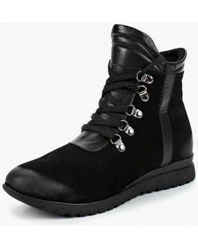 Кожаные ботинки осенние из нубука Alessio Nesca