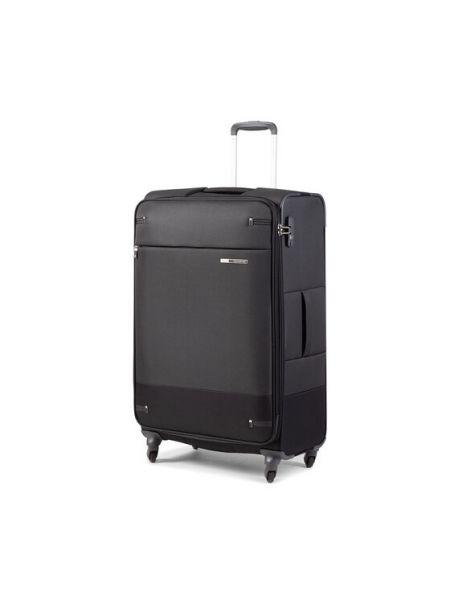 Czarna walizka materiałowa Samsonite