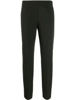 Шерстяные коричневые укороченные брюки с низкой посадкой Piazza Sempione