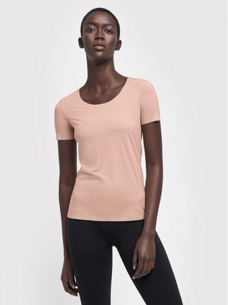 Różowa t-shirt Wolford