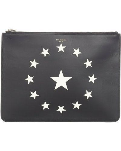 Czarna kopertówka skórzana Givenchy Vintage