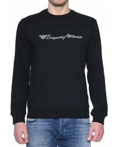 Черный джемпер хлопковый Emporio Armani