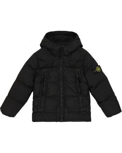 Пуховая куртка - черная Stone Island Junior