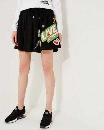 Черная юбка Love Moschino