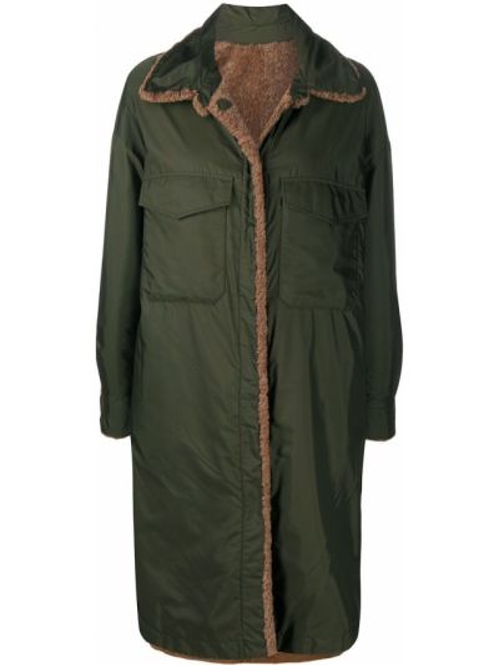 Кожаное пальто классическое двустороннее с воротником Simonetta Ravizza