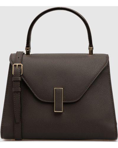 Кожаная коричневая кожаная сумка Valextra