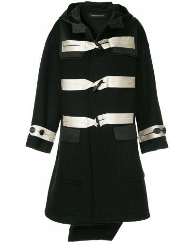 Черное пальто с капюшоном на пуговицах Undercover