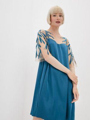 Бирюзовое вечернее платье Seam