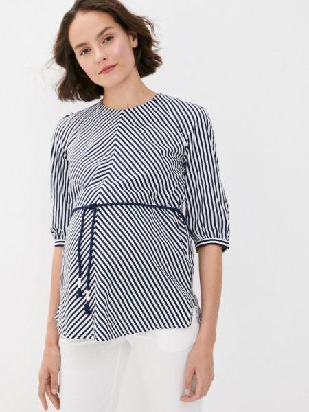 Блузка с коротким рукавом синяя весенний Budumamoy