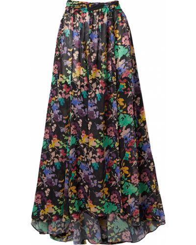 Облегченная шифоновая черная юбка макси Caroline Constas