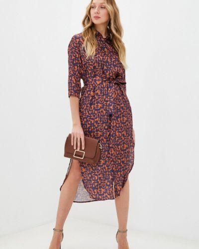 Платье - коричневое Please