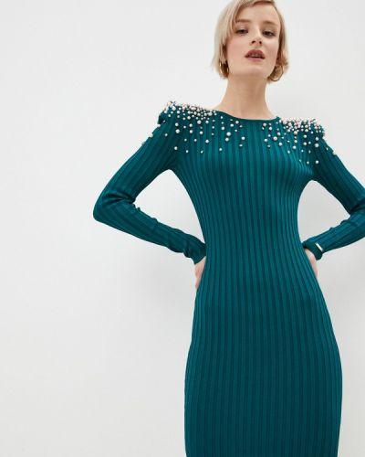 Бирюзовое вязаное трикотажное платье Marciano Los Angeles