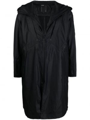 Klasyczny czarny płaszcz przeciwdeszczowy z długimi rękawami Attachment