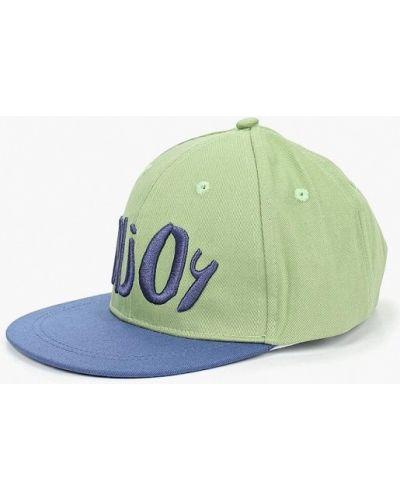 Кепка синяя зеленый Button Blue