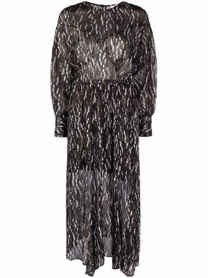 Шелковое платье миди - черное Iro