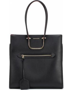 Кожаная сумка на плечо черная Alexander Mcqueen