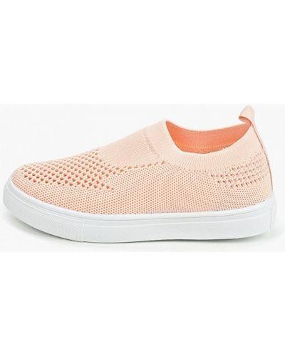 Мокасины розовый текстильные Kenka