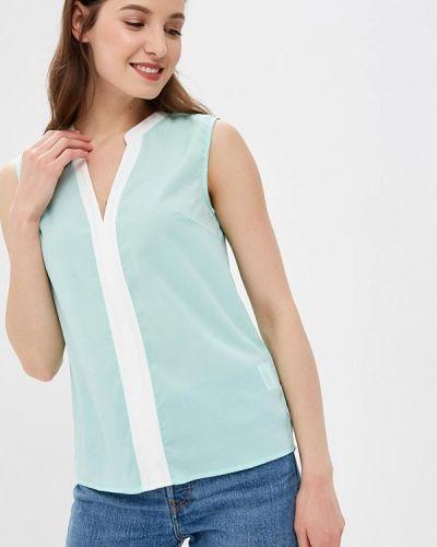 Блузка без рукавов бирюзовая весенний Incity
