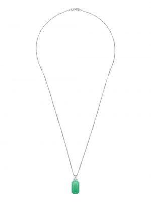 Naszyjnik łańcuch srebrny - żółty Eera