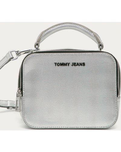 Torba z krótkimi uchwytami srebrna Tommy Jeans