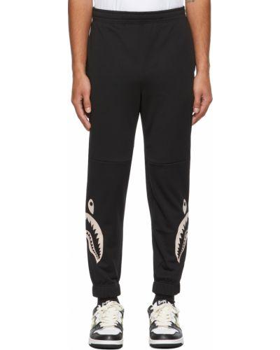 Черные брюки с манжетами Bape