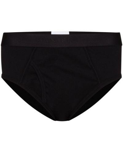 Хлопковые черные носки эластичные Sunspel