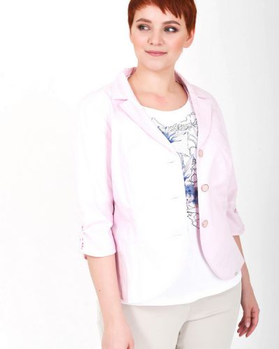 Хлопковый пиджак - розовый Steilmann