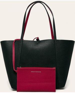 Темно-синяя сумка через плечо с перьями Armani Exchange