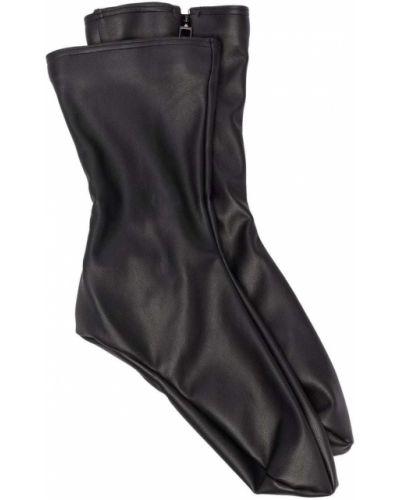 Черные кожаные носки Wolford