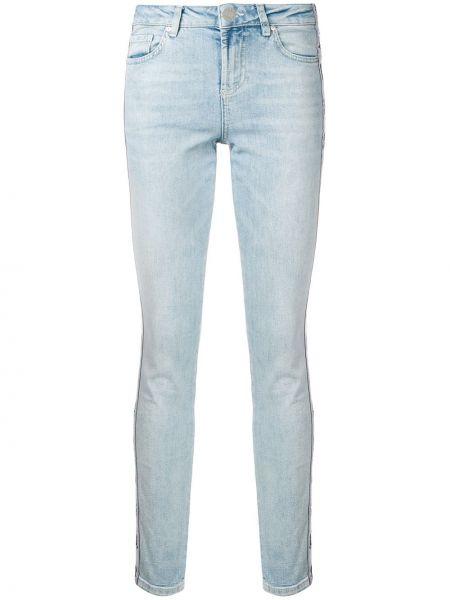 Хлопковые синие зауженные джинсы-скинни Zoe Karssen