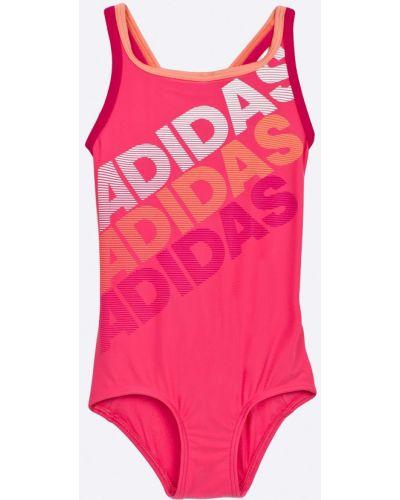 Слитный купальник стрейч розовый Adidas Performance