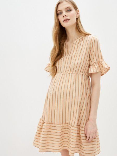 Бежевое платье для беременных Mama.licious