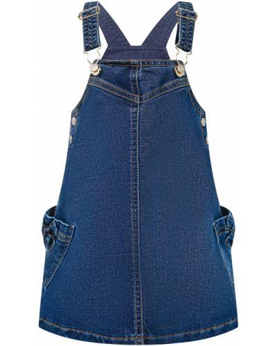 Синее хлопковое платье Mayoral
