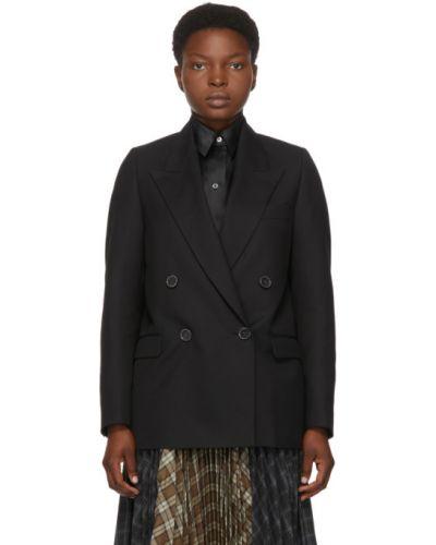 Шерстяной черный пиджак с воротником с карманами Acne Studios
